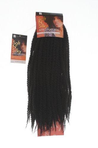 tresse vanille afro, tressage. noir. Extensions de cheveux, Sensationnel Afro Twist Braid. Colour 1B: BLACK. Soft and Silky Afro Natural