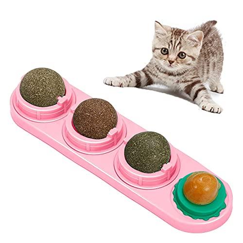 Shengruili Bolas de Hierba Gatera,Juguetes con Hierba Gatera Juguetes de Gato Interactivos,Juguetes de Eliminación de Gatos,Pelotas de Catnip Juguete para Gatos,Juguetes para Gatos Gatito (C)