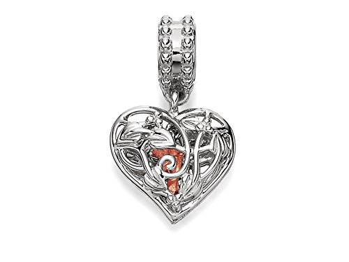 Clogau Beads Womens Silver 9ct Rose Gold Secret Garden Fairy Dropper Bead Charm