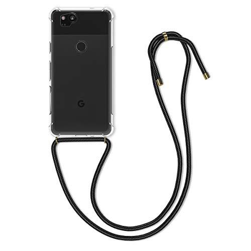 kwmobile Necklace Hülle kompatibel mit Google Pixel 2 - Hülle Silikon mit Handykette - Band Handyhülle Transparent