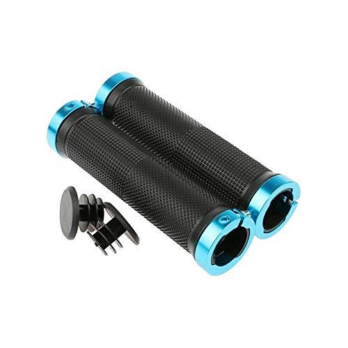 Double Lock sul blocco BMX MTB Mountain Bike Parts copertura Manopole del manubrio della bicicletta Blu