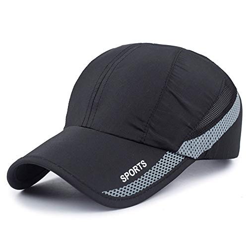 New UV Quick-drying Waterproof Light Shade Baseball Cap Outdoor Hats, free size, Black