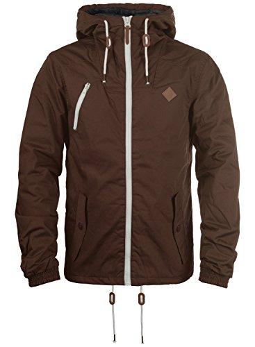 !Solid Tilden Herren Übergangsjacke Herrenjacke Jacke gefüttert mit Kapuze, Größe:S, Farbe:Coffee Bean (5973)