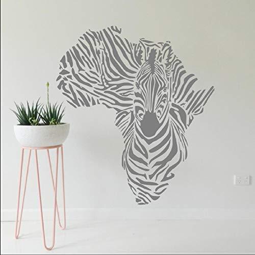 hetingyue Afrika kaart schets speciale creatieve muur sticker verwijderbare vinyl zebra muur schilderij dier koele huisdecoratie behang