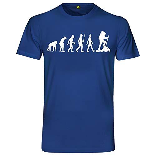 Evolution Bergsteiger T-Shirt | Bergsteigen | Klettern | Wandern | Berg Blau M