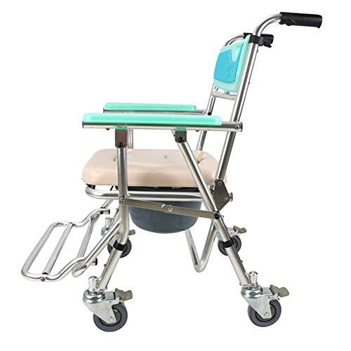 DLC Leicht, Klappbar, Sicherer Rollstuhl, Leichter Klappbarer Rollstuhl, Der Medizinische Versorgung Für Erwachsene, Toilettensitz Rollstuhl Toilettensitz Mit Klappbarem Bad Stuhl Sitzhöhe Einstellba