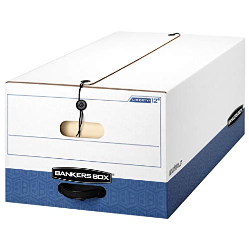 Bankers Box LIBERTY Heavy-Duty Storage Boxes FastFold String and Button Legal Case of 12 00012