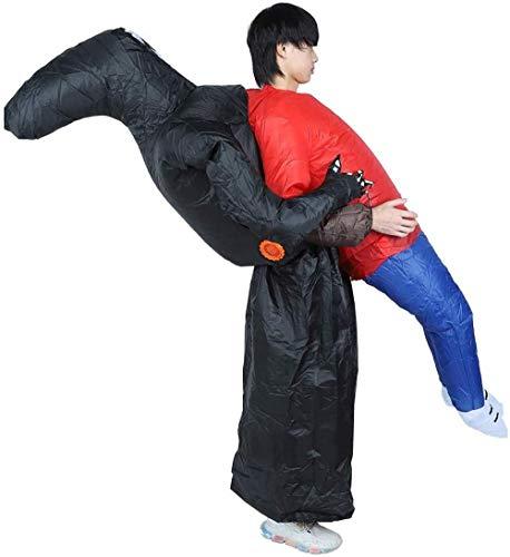 TBBE Disfraz inflable de dibujos animados lindo traje inflable para Halloween fiesta ceremonia festivales Cosplay decoración fantasmas negros X131
