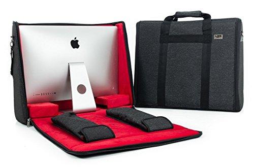 NSP Cases NSP-iMAC21B - Maletín de transporte para iMac de 21,5' (con mango y correa para llevar al hombro), color negro