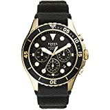 Fossil Men's FB-03 Quartz Silicone Chronograph Watch, Color: Black (Model: FS5729)