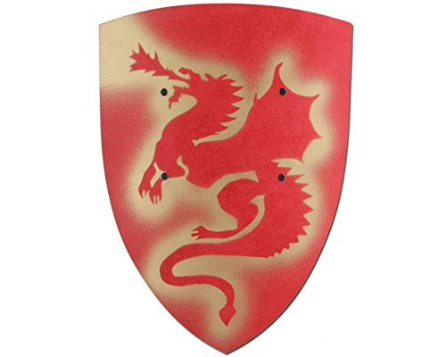 Large Red Knight Shield Dragon VAH 104 Curved
