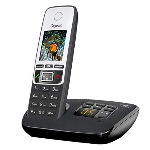 Gigaset C190A Single – Premium schnurloses Heimtelefon mit Anrufbeantworter und störender Anrufsperre – Schwarz/Silber