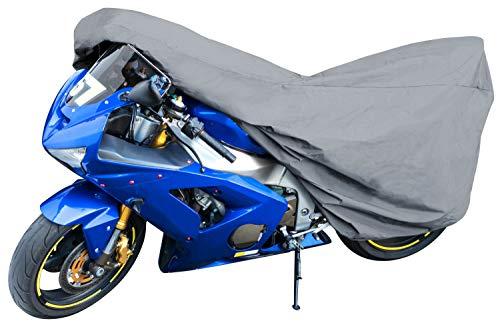 Walser 41089 Motorradgarage Sport Größe M, Abdeckplane PVC - 215 x 95 x 120 cm grau, Motorradabdeckung