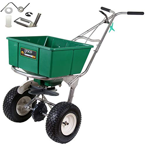 Best Review Of Lesco 101186 High Wheel Walk-Behind Fertilizer Spreader with 092463 Agitator Repair K...
