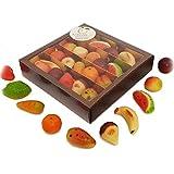 Fruta de pasta de almendra o mazápan, en estuche regalo. RAREZZE: productos típicos, cannoli,...