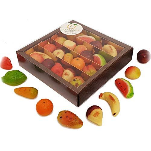 Fruchte aus Marzipan erstklassiger bekannt die in Sizilien als Fruchte aus Martorana in schoner Geschenkbox. Handgefertigt und dekoriert vom alten sizilianischen Konditorei