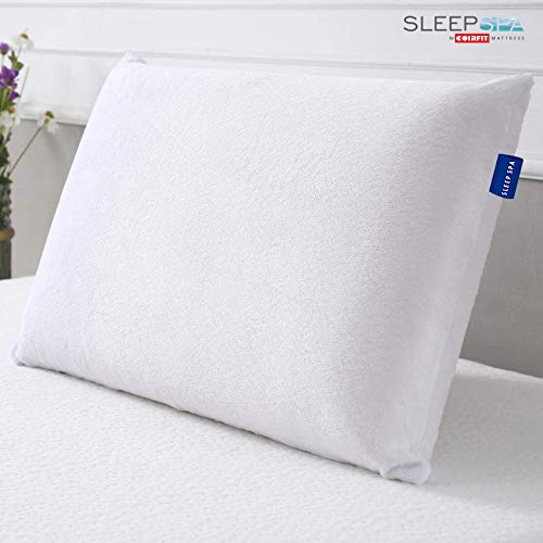 """SLEEP SPA By Coirfit Memory Foam Pillow 20"""" X 12"""" X 4"""" Classic Shape, Pack of 2"""