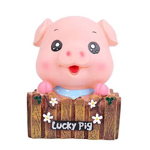 GJRFYJ Hucha de cerdo lindo, banco de cerdo encantador juguete banco de monedas decorativo ahorro banco de dinero azul