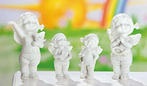 GILDE 1 Engel Figur Lucy mit christlichen Symbolen Sortiert 1von4 Modellen 8cm