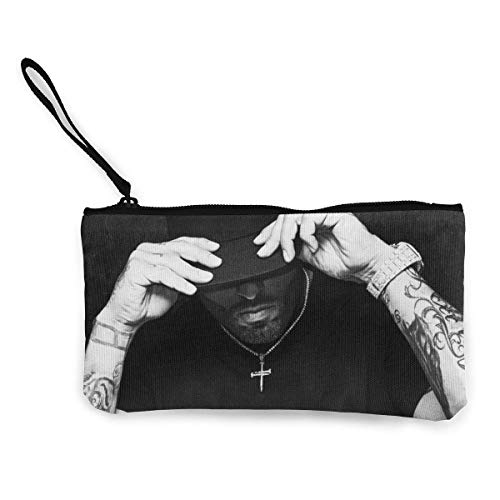 Nicky Jam Canvas Coin Purse Cosmetic Makeup Storage Wallet Clutch Purse Pencil Bag