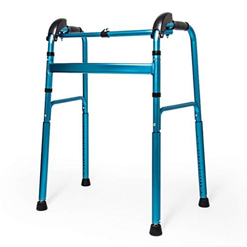 ER-ye su E Giù for Le Scale Walker, su E Giù for Le Piste Arrampicata su Walker Anziani Disabili Assisted Walker (Blu, Rosso) (Color : Blu)