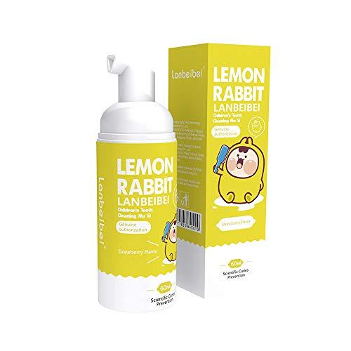 Anself Zahnpasta Schaum für Kinder 60ml Flüssige Zahnpasta Gründliche Reinigung Zahnaufhellung mit süßem Erdbeergeschmack