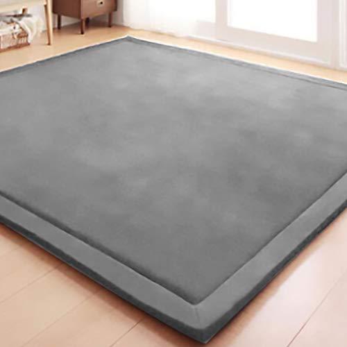 VEVOR 200 * 180 * 2 cm Kinder Spielmatte Schützen Teppich Krabbeldecke Krabbeldecke rutschfeste Dicke Weiche Kinderzimmer Teppich(Grau)