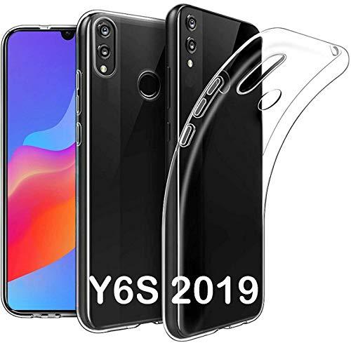 tomaxx Schutzhülle für Huawei Y6s Dual-SIM, Huawei Y6 2019 / Honor 8A Silikon Hülle Durchsichtig transparent Ultra Schlank Dünn TPU …