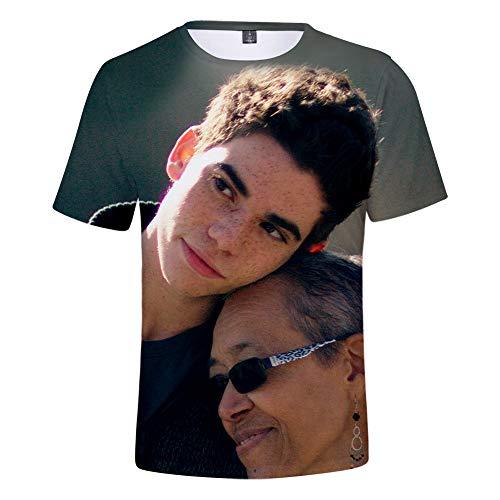 Impresora 3D Actor Cameron Boyce Camiseta Casual de Manga Corta para Adolescentes
