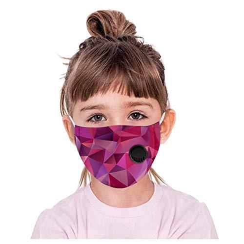Lialbert - Protector bucal para niños, multifunción, diseño de dibujos animados 3D, máscara de algodón, transpirable, lavable, diseño de animales, bandana para el cuello, chico y niña A11 1 Piezas