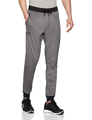 Under Armour Sportstyle Tricot Jogger, Pantaloni Uomo, Grigio (Carbon Heather/Black 090), M