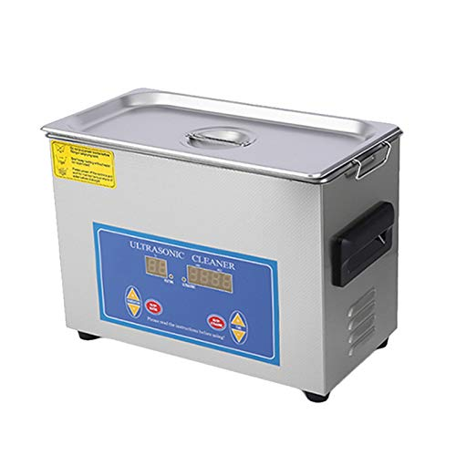 Guerast 4.5L Stainless Steel Industry Heated Ultrasonic Cleaner Best ultrasonic Cleaner with Heater Timer with Built in Transducer for Jewelry Cleaning Watch Coin Glass Circuit Board