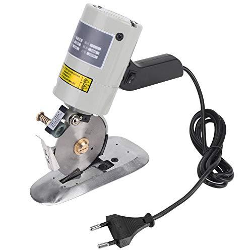 Elektrischer Stoffschneider, Stoffschneidemaschine mit automatischer Schärfvorrichtung, 90 mm Klinge aus legiertem Stahl(EU plug)