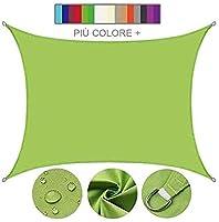 DJZYB サンシェイドセイルキャノピー長方形ガーデン防水UV日保護スクリーンシェルターオーニングガゼボキャノピーパティオ裏庭の庭のために複数の色とサイズ(カラー、ブルー、サイズ、2x2m). Z4Y0B8 (色 : 緑, サイズ : 2x3m)