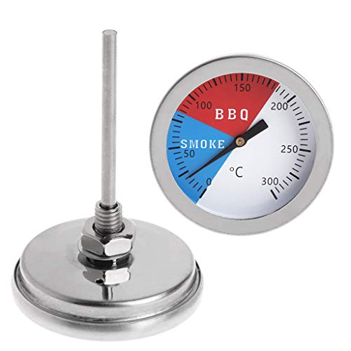 Haia7 K4 k Barbecue Smoker Grill Thermomètre Jauge de température 300 ℃ en Acier Inoxydable 304