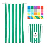 Dock & Bay Microfiber Towel - Beach & Travel (Green - Large 63x31) - Fast Dry Swim Towel (Also Available in Extra Large)
