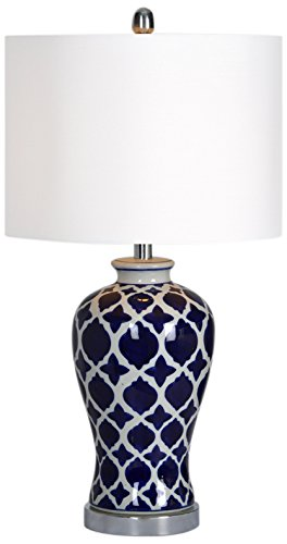 Ren-Wil LPT592 Indigo Table Lamp by Jonathan Wilner, 14 by 26.5-Inch