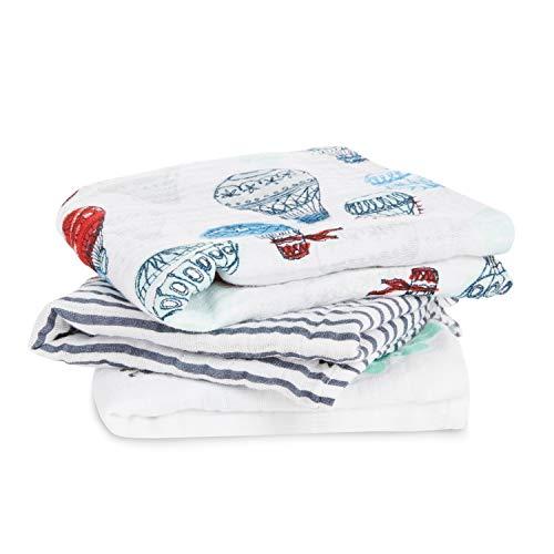 aden + anais langes musy, 100% mousseline de coton, 70cm x 70cm, pack de 3, dream ride