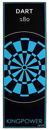 Kingpower Dartmatte, Dart Teppich Turnier Matte als Abwurflinie und Bodenschutz in 2 Größen, 237cm und 290cm , Auswahl:Design 4 - 237 x 80 cm