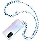 COCASES Phone Tether Lanyard, Cell Phone Neck Holder With 2 Pieces Clear Patch (Camo Mint)