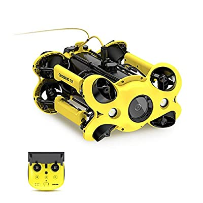 M2 Professional Underwater Drone, 8 Vectored Thrusters Layout, Support Attachments, 4K+EIS Underwater Camera for Real-Time Viewing, Dive to 330ft, Remote Controller and APP Remote Control, Live Stream