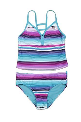 ZeroXposur Girls Two Piece Beach Swimsuit Bathing Suit Set Tahiti XS-4/5