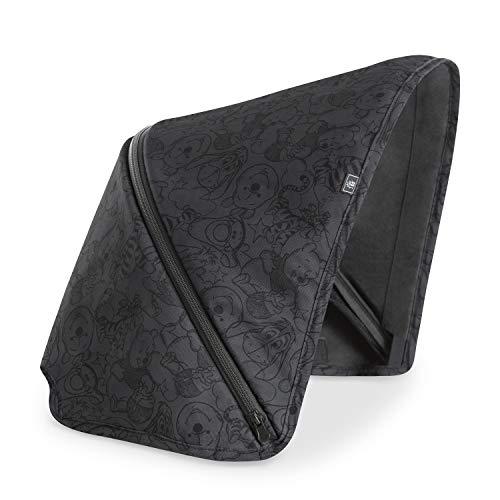 Capota Hauck de 3 zonas con protección UV 50+ para la silla de paseo Swift X, óptimos diseños, fácil de intercambiar para un estilo individual - Pooh negro
