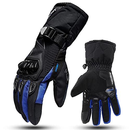 Guantes de la motocicleta impermeable de invierno Pantalla táctil Cierb Cycling Gloves for hombres y mujeres Camino de montaña Guantes de ciclismo de montaña Guantes de ciclismo de ciclismo for montar