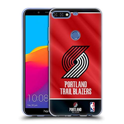Officiële NBA Vaanjager 2019/20 Portland Trail Blazers Soft Gel Case Compatibel voor Huawei Honor 7C / Enjoy 8