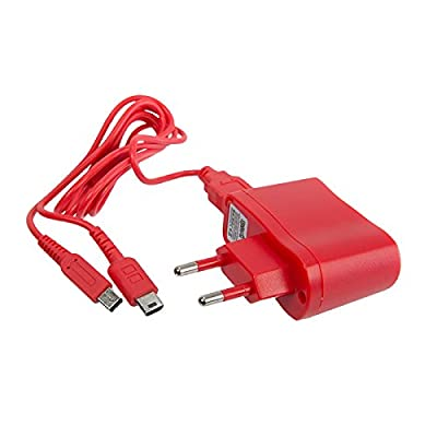 Under Control 6 in 1 Packed MAINS CHARGER POWER SUPPLY FOR DSI XL/DSI/DS LITE/3DS XL/3DS/2DS Red