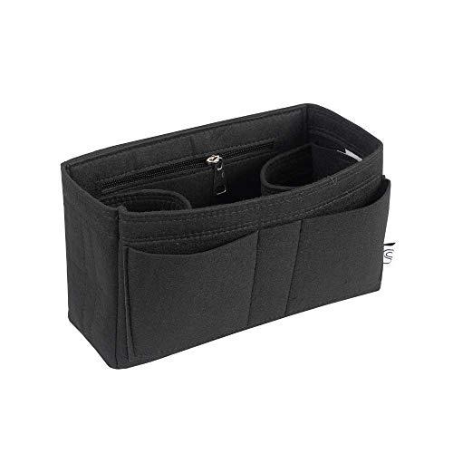 Classic Slash Taschenorganizer Filz für Neverfull PM, Le Pliage M, Kanken 16L und Taschen ab 27cm Innenmaß I Schwarz (Medium)