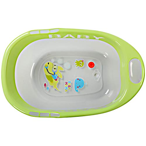 LuvLap Fun Club Baby Bathtub with Transparent Body (Green)