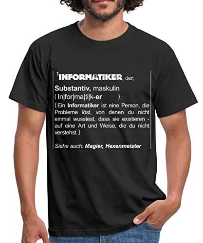 Definition Informatiker Siehe Magier Humor Männer T-Shirt, 4XL, Schwarz