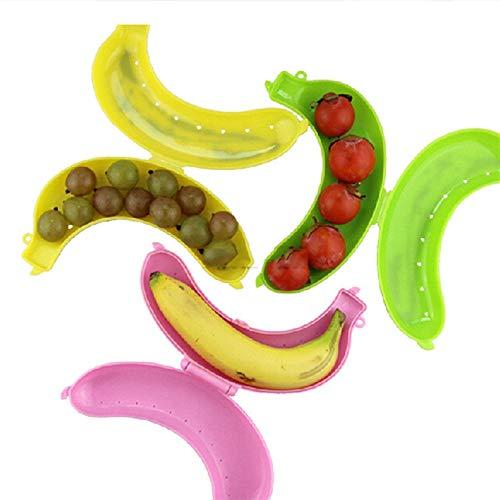 WLEYYY opbergdoos 1 stks Leuke Banaan Beschermer Case Container Trip Outdoor Lunch Fruit Opbergdoos Houder Banaan Trip